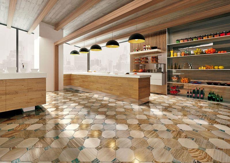 Напольную плитку для кухни и коридора
