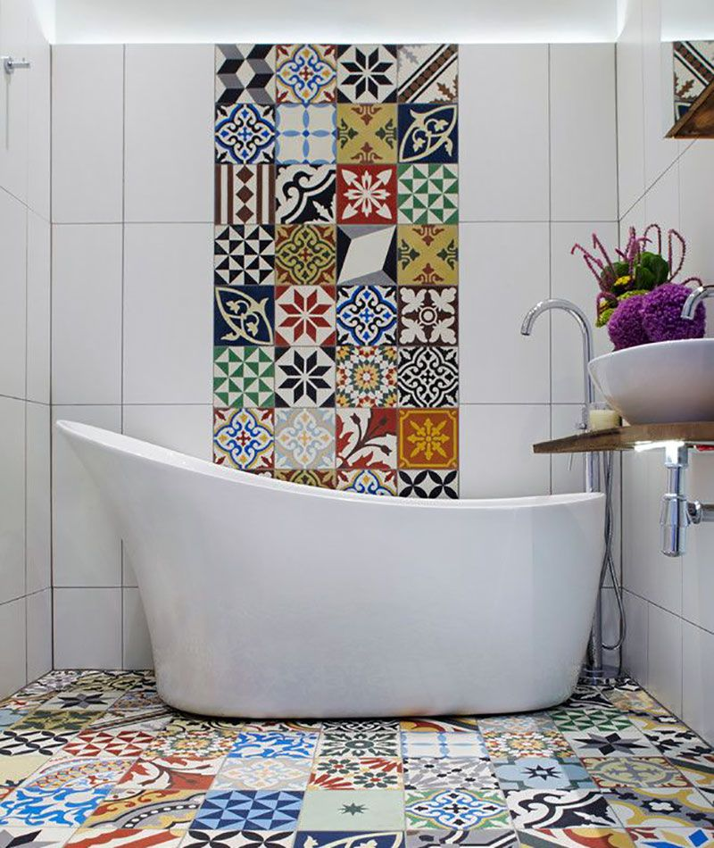 Wall tile bathroom