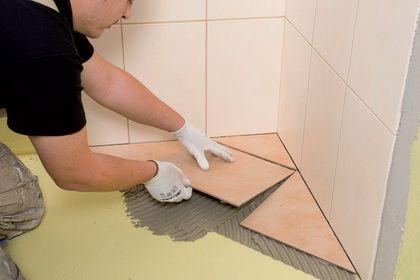 своими руками, плитка, керамическая плитка, плитка в интерьере.  Укладка керамической плитки.