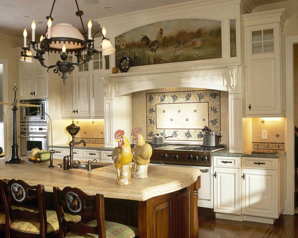 Panel von Fliesen in der Küche