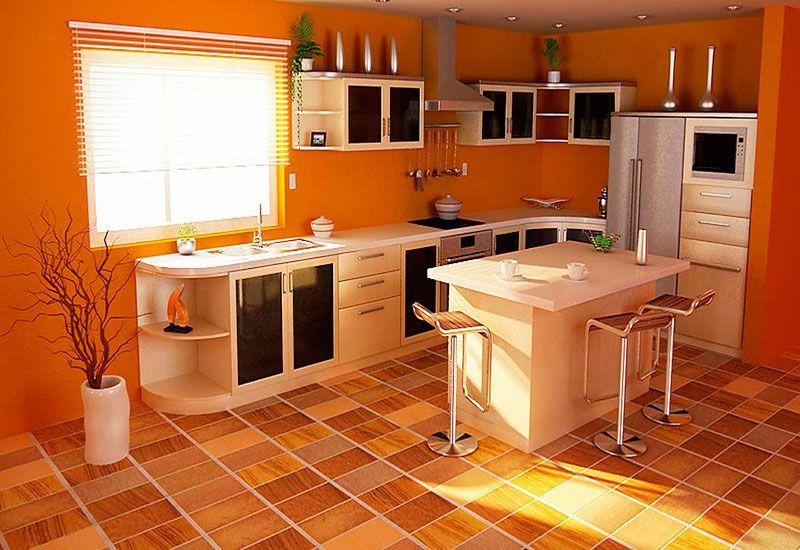 Дизайн кухни полы
