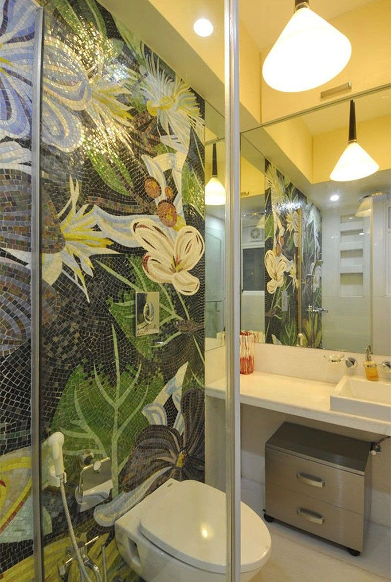 Jungle themed bathroom
