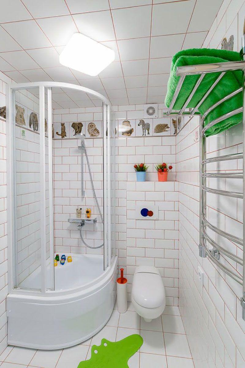 Дизайн ванной комнаты с совмещенным туалетом