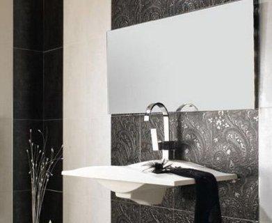 Calatrava фабрики Latina Ceramica выполнена в классической черно-белой гамме