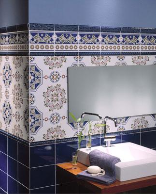 в восточном стиле в ванной комнате