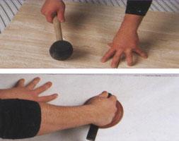 обязательно проверяйте качество укладки. можно простукивать резиновым молотком, а в случае брака воспользоваться присоской