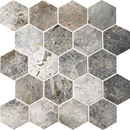 Мозаика Hexagon VLgP 64x74  натур.мрамор
