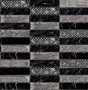 Мозаика Greek Negro Marquina (2,3x9,8)