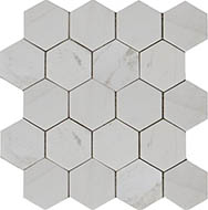 Мозаика Hexagon MwP 74x74 натур.мрамор