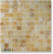 Мозаика LIGHT HONEY ONYX ОНИКС нат.камень (2.3x2.3)