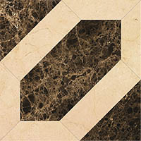 Мрамор PJG-SWPZ009 09 Modern Magic Tile (Emperador)