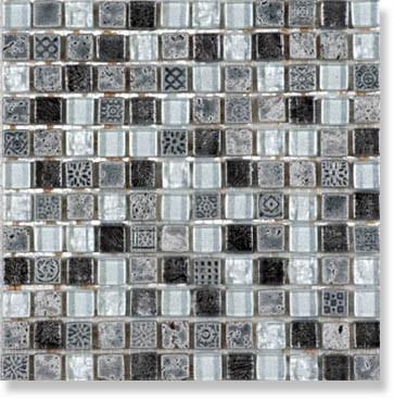 фото Мозаика Iceland 15x15  серый цвет, классический, современный стиль от Bars Crystal Mosaic (Китай)