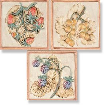 фото Декор настенный Decoro Primavera (комп/3шт) 10x10 кантри, прованс, рустика, средиземноморский стиль от Alta Ceramica (Италия)
