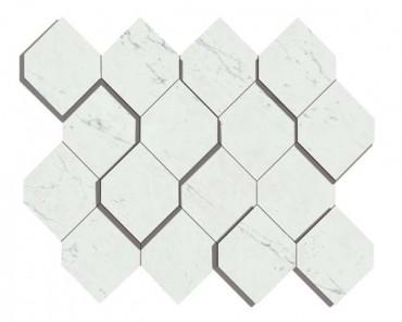 Мозаика керамогранит Marvel Stone Carrara Pure Mosaico Esagono 3D (AS4A) 28.2x35.3 Atlas Concorde – купить в Москве по выгодной цене   Магазин плитки Keramogranit.ru