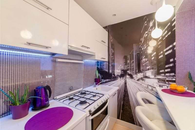 Маленькая кухня в стильном и ультрасовременном дизайне