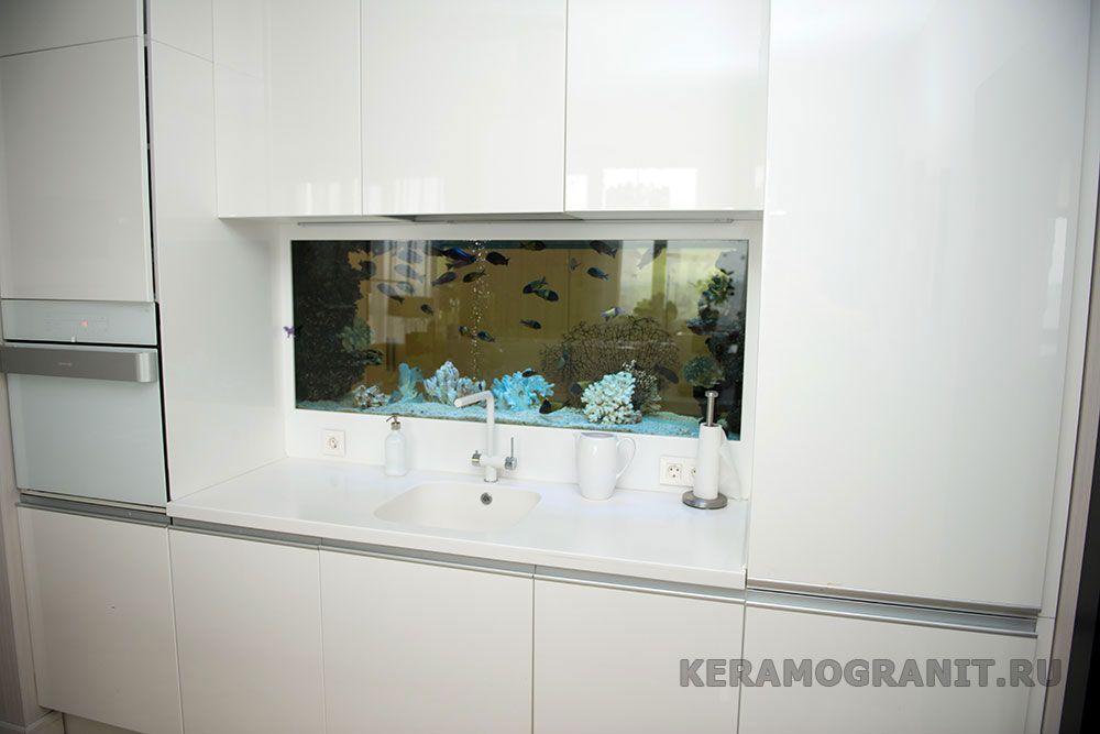 Аквариум на фартуке в кухне (фото 2)