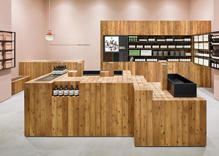 Магазин косметики Aesop от бюро Torafu Architects, Осака (Япония)