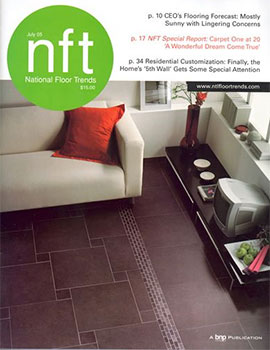 коллекция плитки Cristacer на обложке журнала National Floor Trends
